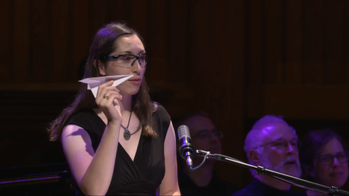 Serving as the airplane announcer at the Ig Nobel Prize Ceremony.